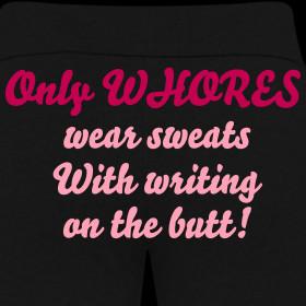 fun Chin denim (bootcut type) ★ yoga pants ★ beauty leg pants ...