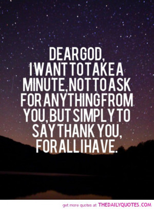 Dear God Thank You Quotes...