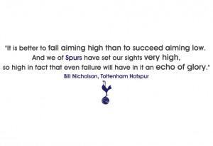 fc bill nicholson glory quote wall sticker spurs fc bill nicholson ...