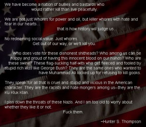 hunter s thompson quotes | Hunter S. Thompson Quote | Flickr - Photo ...