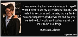 Ballet Dance Quotes More christian siriano quotes