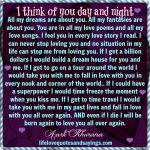 ... night all my dreams are about you all my fantasies are about you you