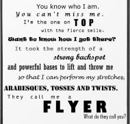 Quotes About Cheer Flyers. QuotesGram