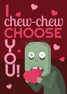 ... Zombies Valentine, Valentine Day Cards, Holidays Gift, Valentine Ideas
