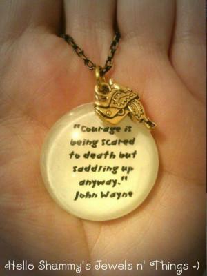 NEW! John Wayne Quote Necklace with Saddle Charm.