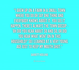 Quotes About Small Town Gossip