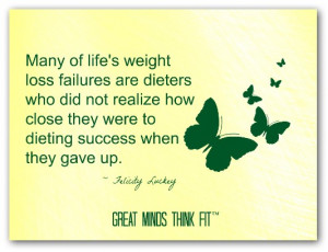 Think Thin Affirmation: Many of life's weight loss failures are ...