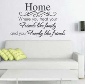NEW Quote Home Friends Family Wall Sticker Vinyl Decal Arty Large ...
