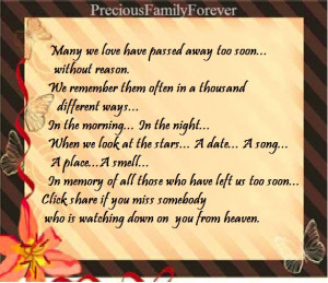 Remembering Someone Passed Away Quotes