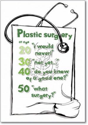 Plastic Surgery Adult Funny Birthday Card Nobleworks