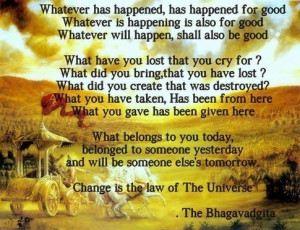 ... the most inspiring quotes from the Bhagavad Gita on karma and life
