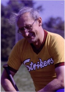 Mike Royko wearing the jersey of his favorite 16-inch softball team ...