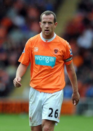 Charlie Adam Charlie Adam of Blackpool looks on during the Barclays