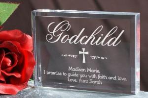 Personalized Godchild Plaque