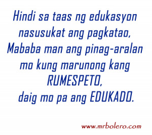 Patama Quotes : Tagalog Inspirational Quotes