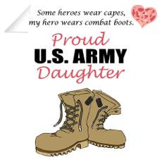 Army Daughter Wall Decals