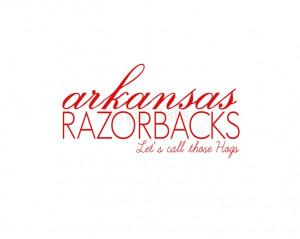Arkansas Razorbacks by theSimplePerks on Etsy, $12.00
