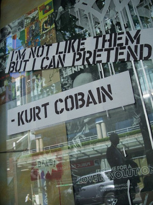 Nirvana- Dumb. Lyrics. Kurt Cobain quote