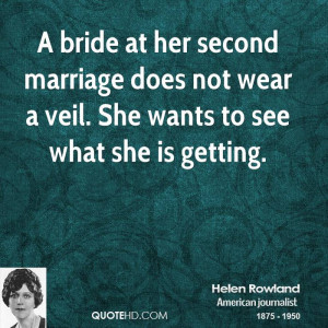 Helen Rowland Marriage Quotes