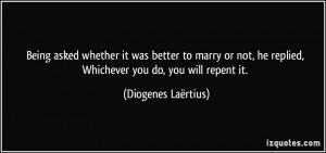 More Diogenes Laërtius Quotes