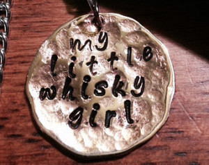 Toby Keith inspired my little whisk ey girl necklace or bracelet ...
