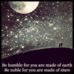 be humble/be noble