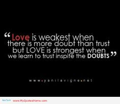 Trust Quotes | love is strongest when we learn to trust, quotes about ...