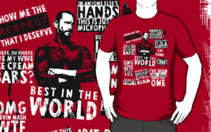 Wrestling: CM PUNK - Best In The World Quote Tee by UberPBnJ