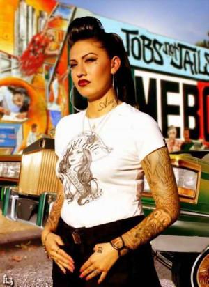 chola #gangsta #gangster girl #cholita #tattoos #mi vida loca #black ...
