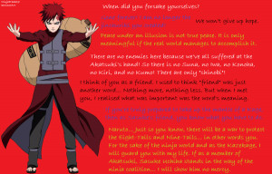 Gaara Quotes Ninjafreak