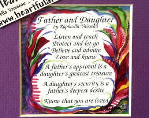 FATHER DAUGHTER Original POEM Inspi rational Quote Dad Birthday Gift ...