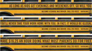 Creative ads for recruiting school bus drivers