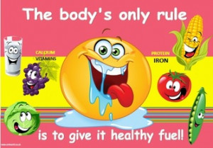 Healthy Eating poster pack of 10