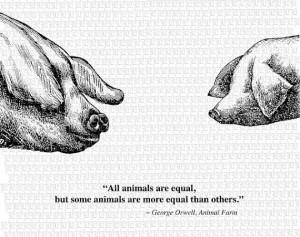 ... Animal Farm George Orwell Quote 2338: Vintage Illustration, George