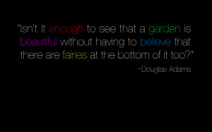 Douglas Adams quote wallpaper