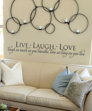 Black 'Live Laugh Love' Wall Quote