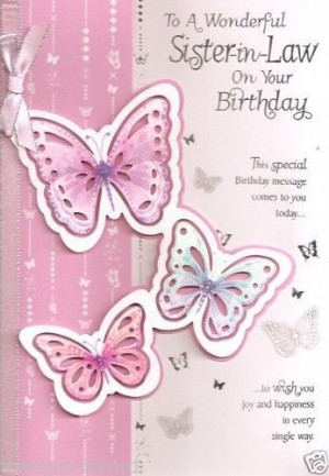 Special Sister In Law Quality Birthday Cards: Happy Birthday, Sisters ...