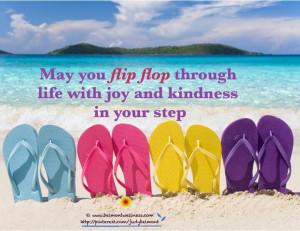Summertime flip flops