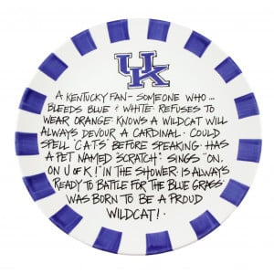 -of-kentucky-wildcats-plate-hand-painted-ceramic-kentucky-fan-sayings ...