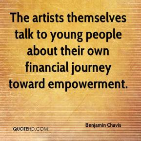 The artists themselves talk to young people about their own financial ...