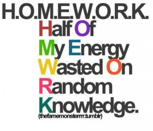 Hate Homework Quotes