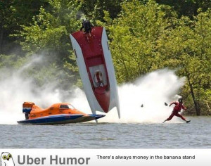 After flipping his new speed boat, Jesus quickly fled the scene.