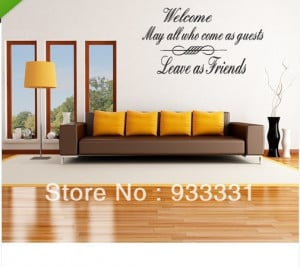 5pcs/lot Wall Decal Art Sticker Quote Vinyl Welcome Enter as Guests ...