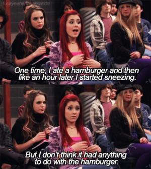 cat valentine ariana grande funny stupid hamburger