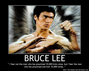 Bruce Lee Motivational Quotes Poster