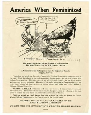 Antisuffragists, 1920, Carrie Chapman Catt Photographs
