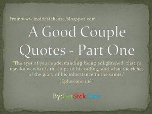 ... Their Characteristics and How To Choose Your Right Couple? - Part One