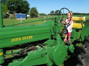 John Deere Tractors and Girls