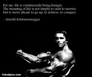 arnold schwarzenegger wise quote workout w