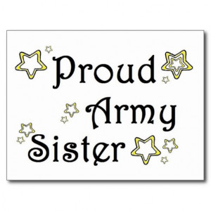 Proud Army Sister Post Cards
